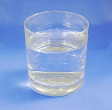 Mineral Water In Glass Royalty Free Stock Photos