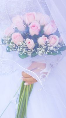 Free Wedding Roses Bouquet Royalty Free Stock Photo - 15222895