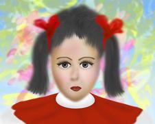 Free Sweet Little Girl Portrait Royalty Free Stock Photos - 15223008