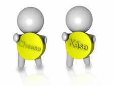 Free  Cheese  And  Käse  Guys 3d Royalty Free Stock Image - 15223736