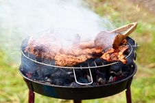 Free Rib-eye On The Grill Royalty Free Stock Image - 15223776