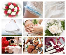 Free Collage Of Wedding Photos Stock Images - 15223874