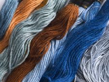 Free Set Of Colorful Yarns Royalty Free Stock Photos - 15223888