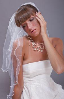 Free Crying Bride Royalty Free Stock Photo - 15224565