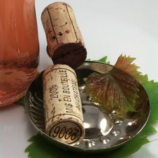 Cork And Wine Bottle Stock Photography