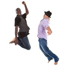 Free Young Interracial Teens Jumping Stock Image - 15224701