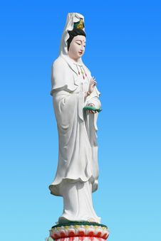 Chinese Female Statue Royalty Free Stock Photography