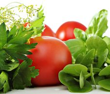 Free Tomatoes And Herbs Royalty Free Stock Images - 15225559