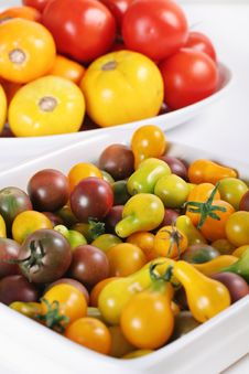 Free Variety Of Organic Heirloom Tomatoes Stock Photography - 15225912