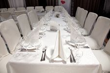 Free Banquet Table Royalty Free Stock Photo - 15226415