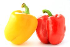 Free Red And Yellow Pepper Isolated Stock Images - 15226984
