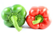 Free Red And Green Pepper Isolated Stock Photos - 15226993