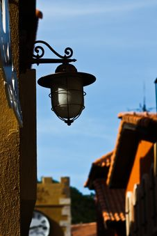 Lantern On Wall4 Royalty Free Stock Photos