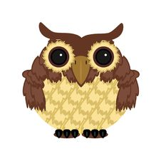 Free Owl On White Background Royalty Free Stock Photos - 15228298