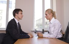 Free Business. Office Talks. Stock Photos - 15228513