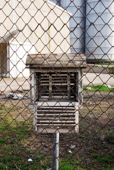 Free Bird House And Chain Link Fence Stock Photos - 15228883
