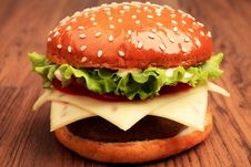 Free Close Up Of Cheeseburger Stock Image - 15229171