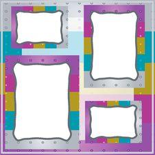 Free Frames:varicolored Metal Stripes. Royalty Free Stock Image - 15229176