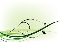 Green Decorative Design Stock Photo