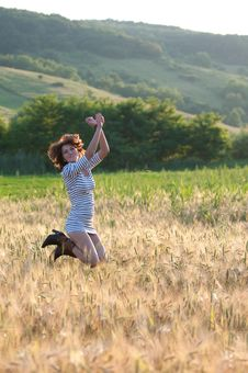 Free Young Happy Woman Stock Photography - 15229622