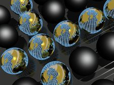 Earth Balls Royalty Free Stock Images