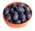Free Plums On The Plate With Drops Stock Photo - 15231100