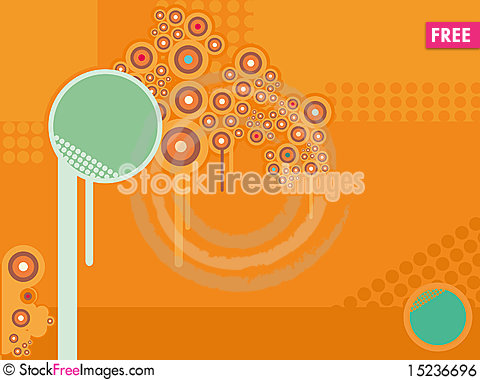 Free Orange Abstract Wall-paper With An Ornament From C Royalty Free Stock Image - 15236696