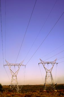 Free Landscape With Electrical Pylons Stock Photo - 15230040