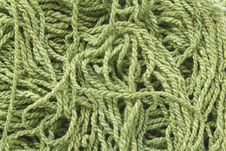 Free Green Woolen Yarn Stock Images - 15230104