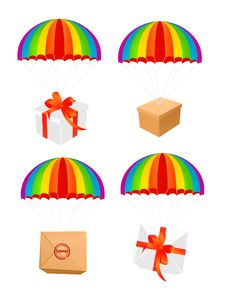 Free Parcel Parashute Royalty Free Stock Images - 15230339