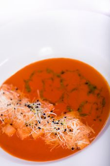 Free Tomatoes Soup (Shallow DOF) Stock Photography - 15230372