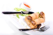 Free Springrolls (Shallow DOF) Royalty Free Stock Photo - 15230375
