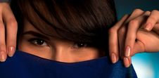 Close Up Of Asian Womans Face Stock Photography