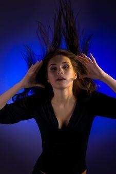 Free Portrait Of Beautiful Dancing Girl Stock Images - 15230384