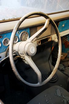 Free Old Car Interior Royalty Free Stock Images - 15230419
