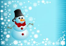 Illustration The Snowman Stock Photo