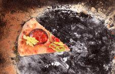 Freshly Baked Pizza Royalty Free Stock Image