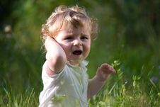 Free Little Baby In The Midle Of Green Nature Stock Photos - 15231193
