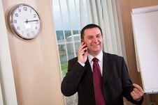 Businessman Talking On The Phone Stock Photos
