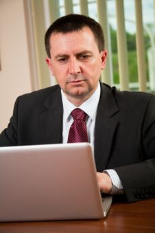 Free Businessman Working On Computer Royalty Free Stock Image - 15231236