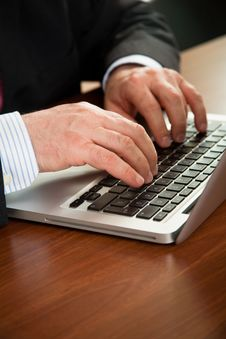 Free Businessman Working On Computer Stock Image - 15231281
