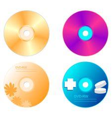 Realistic Illustration Set DVD Disk Royalty Free Stock Photo