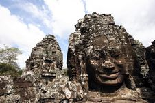 Free Bayon Face, Cambodia Royalty Free Stock Photography - 15233057