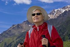 Free Old Women In Mountain Royalty Free Stock Images - 15233179