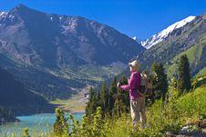 Free Old Women In Mountain Royalty Free Stock Photos - 15233698