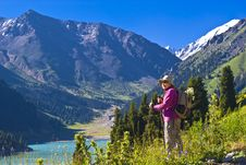 Free Old Women In Mountain Royalty Free Stock Image - 15233796