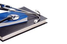 Free Black Book And Stethoscope Royalty Free Stock Image - 15233846