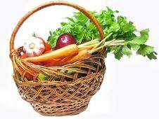 Free Basket Full Of Vegetables Stock Photo - 15234160
