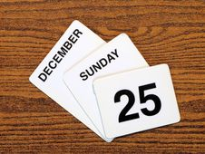 Free Calender Christmas Day 2011 Stock Image - 15235071