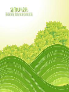Free Abstract Green Nature Background With Waves Stock Images - 15235254